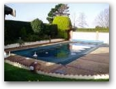 A standard outdoor swimming pool before the work begins  » Click to zoom ->