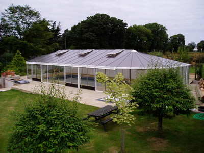 Stuart horsepool glasshouse maintenance for Greenhouse over swimming pool